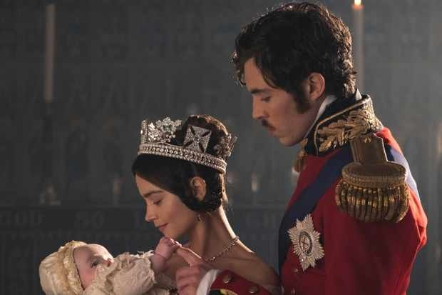 MAMMOTH SCREEN FOR ITV  VICTORIA  SERIES 2 EPISODE 1  Pictured:  JENNA COLEMAN as Victoria and TOM HUGHES as Albert.   This photograph is (C) iTV and can only be reproduced for editorial purposes directly in connection with the programme or event mentioned above. Once made available by ITV plc Picture Desk, this photograph can be reproduced once only up until the transmission [TX] date and no reproduction fee will be charged. Any subsequent usage may incur a fee. This photograph must not be manipulated [excluding basic cropping] in a manner which alters the visual appearance of the person photographed deemed detrimental or inappropriate by ITV plc Picture Desk.  This photograph must not be syndicated to any other company, publication or website, or permanently archived, without the express written permission of ITV Plc Picture Desk. Full Terms and conditions are available on the website www.itvpictures.com  For further information please contact: Patrick.smith@itv.com 0207 1573044