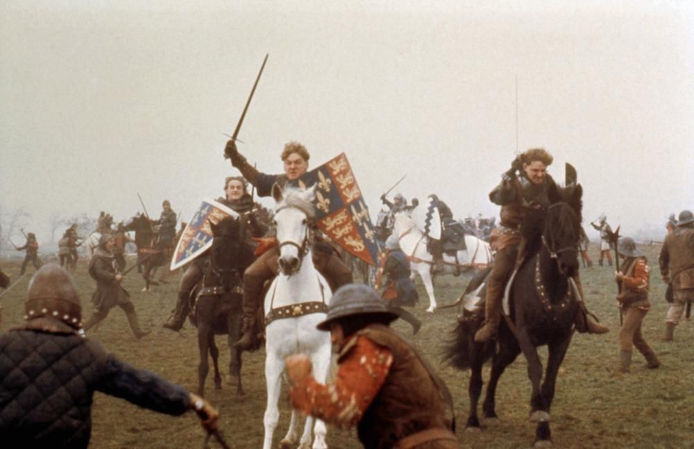 HENRY V, Kenneth Branagh, (center), 1989, ©Samuel Goldwyn Films