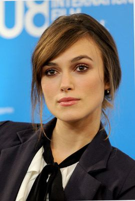 """Actress Kiera Knightley speaks at the """"The Dutchess"""" press conference during the 2008 Toronto International Film Festival held at the Sutton Place Hotel on September 7, 2008 in Toronto, Canada.2008 Toronto International Film Festival - """"The Duchess"""" - Press ConferenceSutton Place HotelToronto, ON CanadaSeptember 7, 2008Photo by George Pimentel/WireImage.comTo license this image (55658561), contact WireImage.com"""